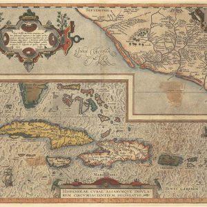 Antique reproduction - 1579 Ortelius Map