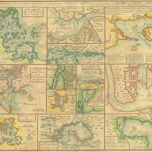 Antique reproduction - 1745 Bowen Map