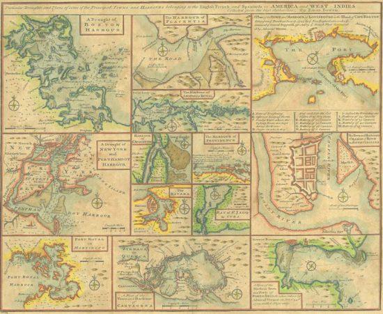 Antique reproduction - 1745 Bowen Map