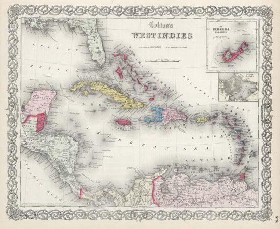 Antique reproduction - 1865 Colton Map