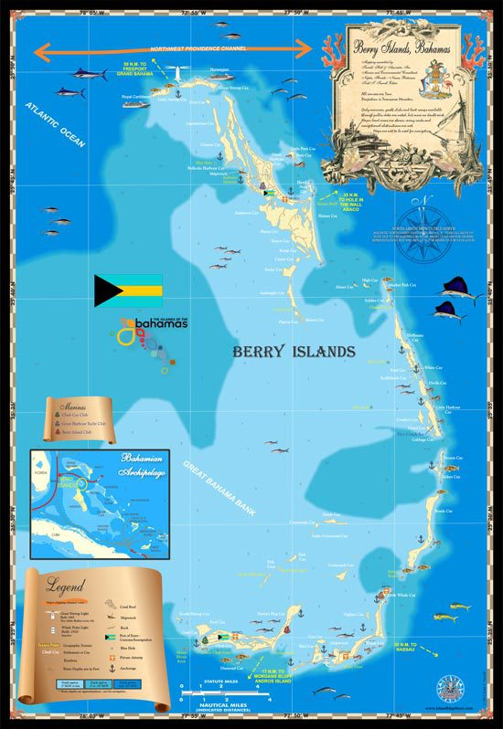 Berry Islands Map