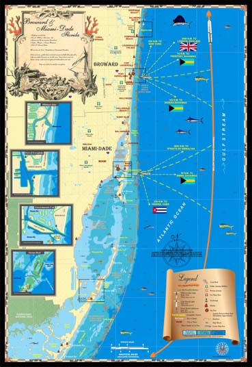Broward and Miami-Dade map