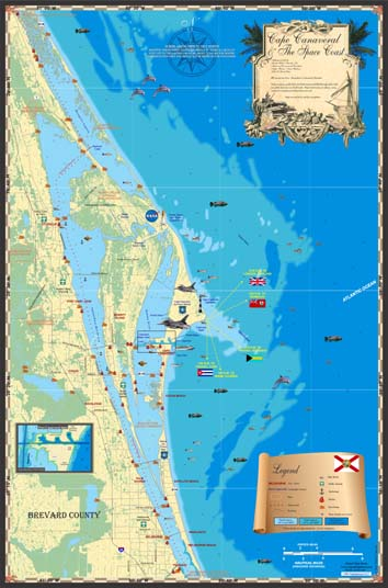 Cape Canaveral and The Space Coast Map