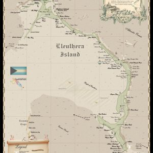 Eleuthera earth tone map