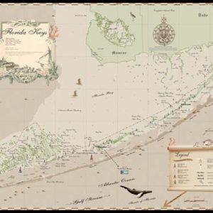 Florida Keys earth tone map