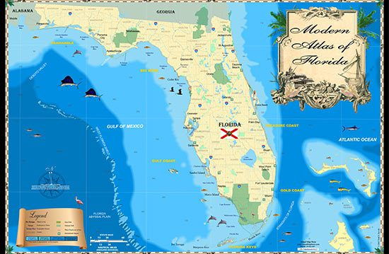 "Our entire Florida Keys map collection (16 maps in total) as a 11"" x 17"" booklet. Starting with the Dry Tortugas and Marquesas, through the lower and middle Keys, and ending in Everglades"