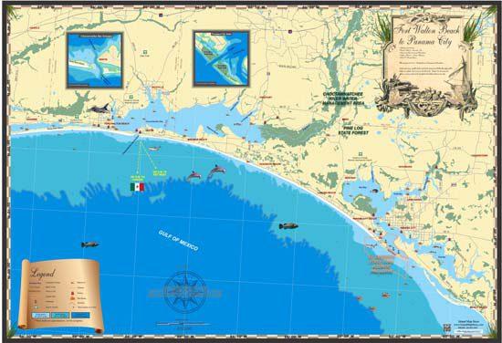 Fort Walton Beach to Panama City Map