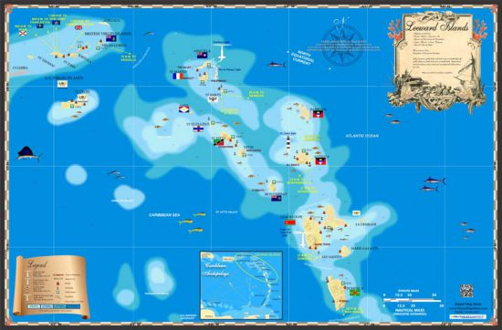 Leeward Islands map