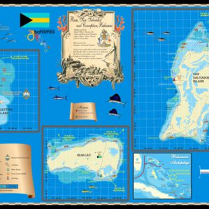 Rum Cay San Salvador Conception map
