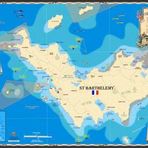 St Barthelemy Map