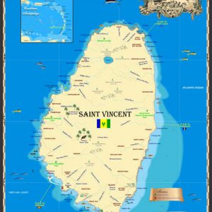 St Vincent Map