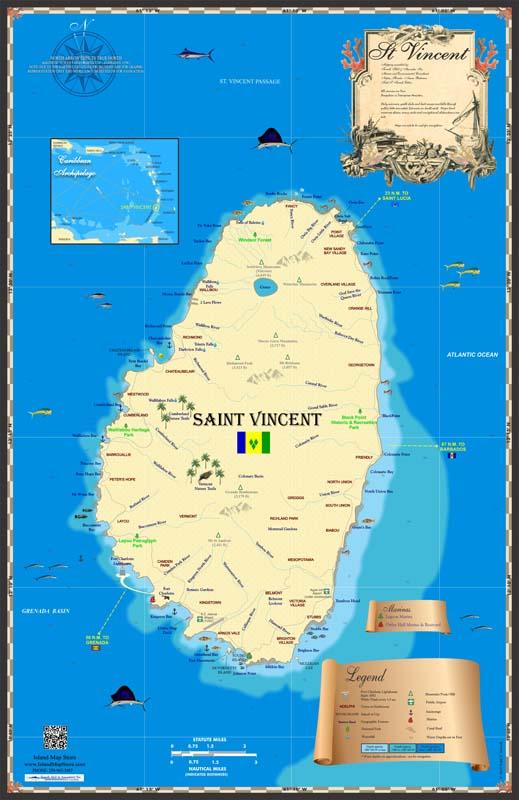 St Vincent Map