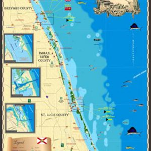 Stuart to Palm Bay Map