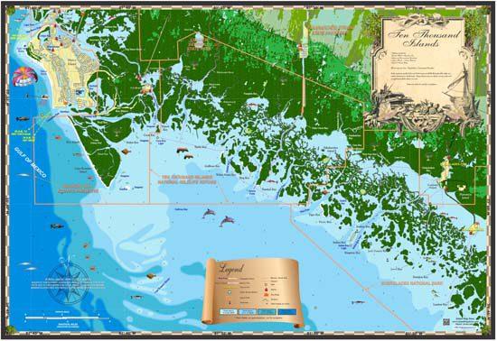 Ten Thousand Islands Map
