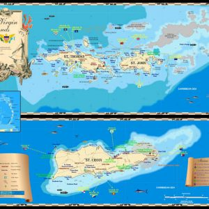 U.S. Virgin Islands Map