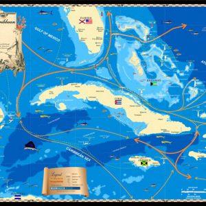 Western Caribbean map