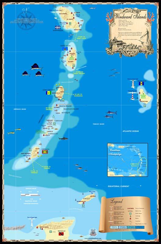 Windward Islands Map