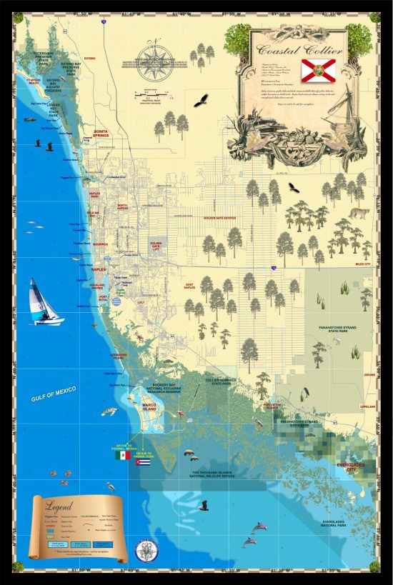 Map of Coastal Collier County