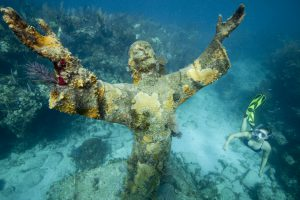 Statue of Christ in Key Largo