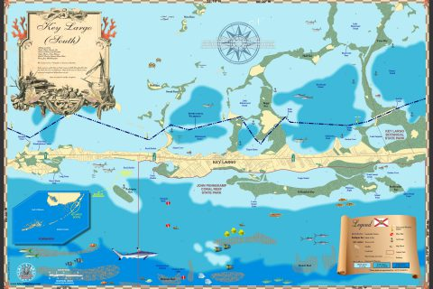 Key Largo South Map