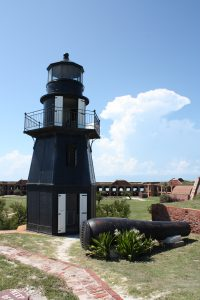 Lighthouse and cannon in Dry Tortugas