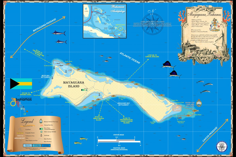 map, mayaguana, history, bahamas