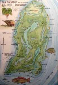 san salvador, map, bahamas history